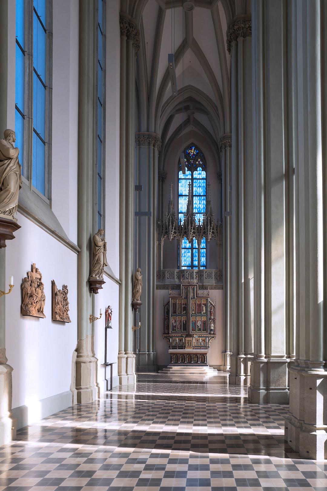 Neo-gothic Style roman-catholic Church in Munich.