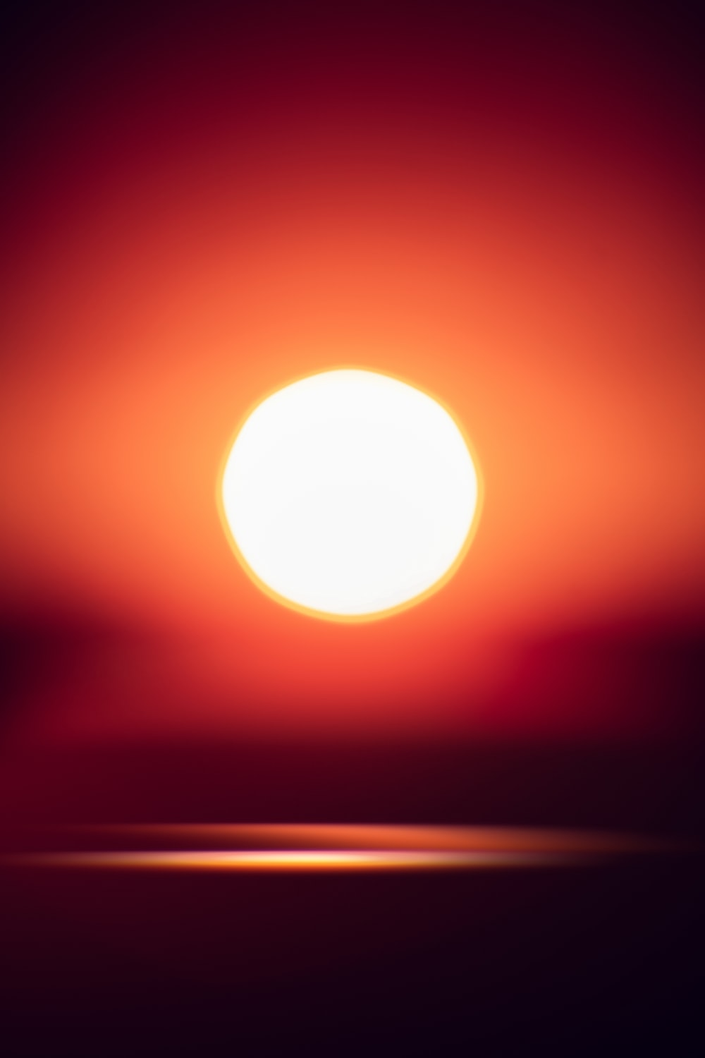 sun in the sky during sunset
