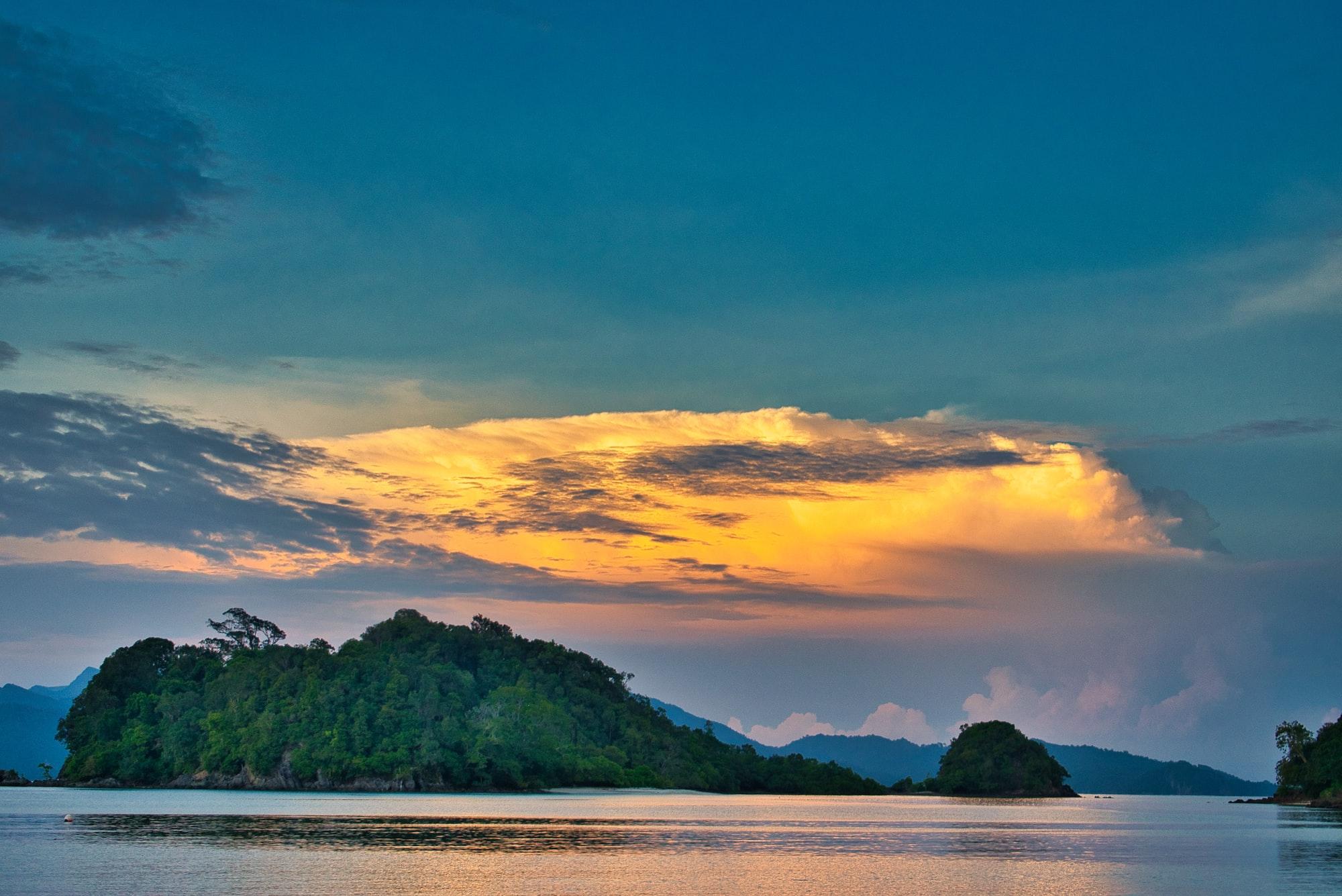 Sunlit cloud, Andaman Sea, Langkawi, Malaysia