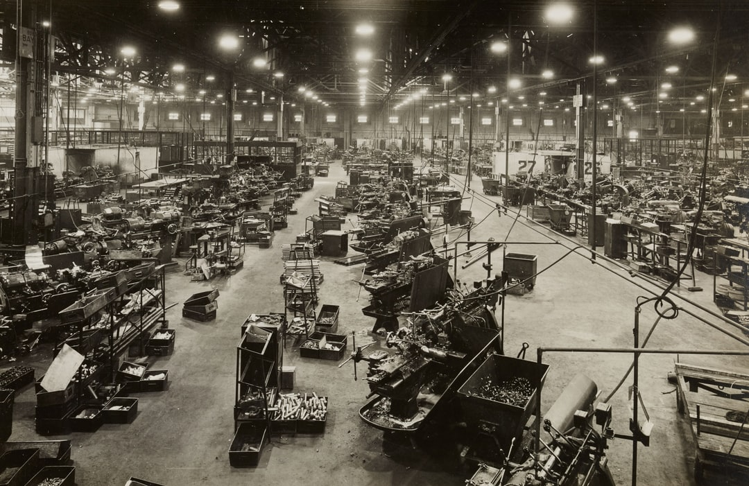 Spitfire manufacture. WWII World War 2 Castle Bromwich Aeroplane Factory, Birmingham 1940-46. Manufacturers: Vickers Armstrong