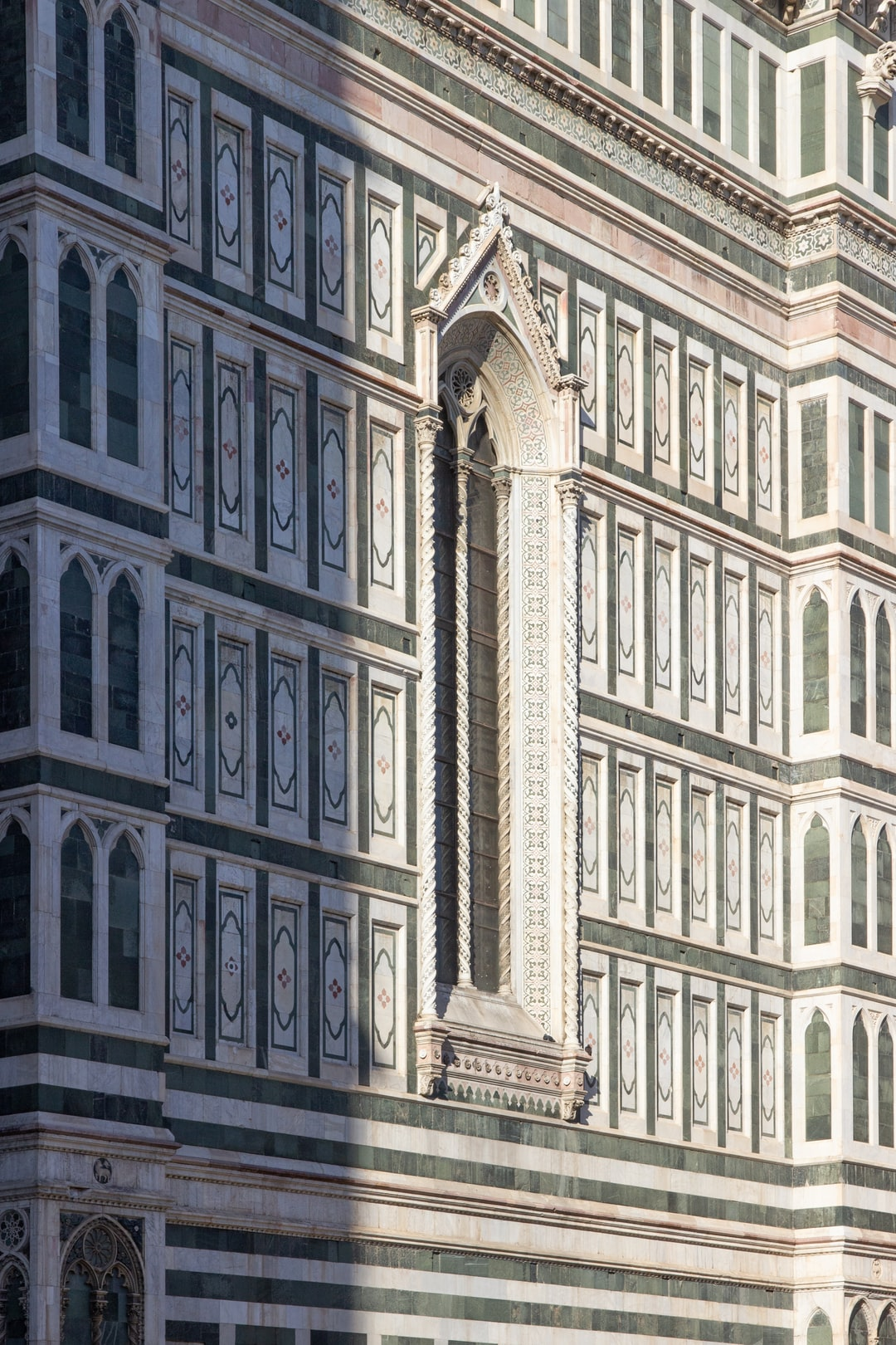 Cathedral in Florence in sun and shadows.