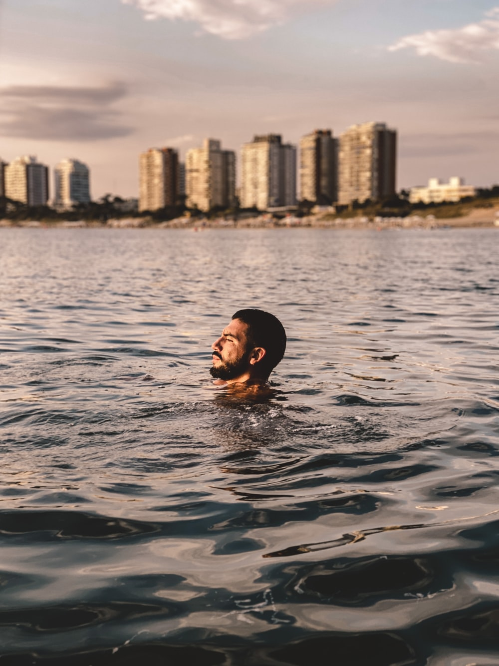 woman in water during daytime