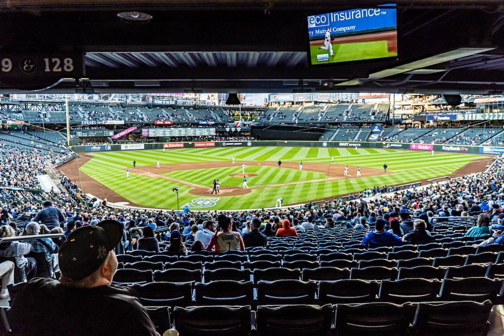 people watching baseball game during daytime