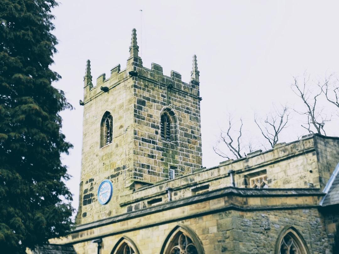 A church in Eyam.