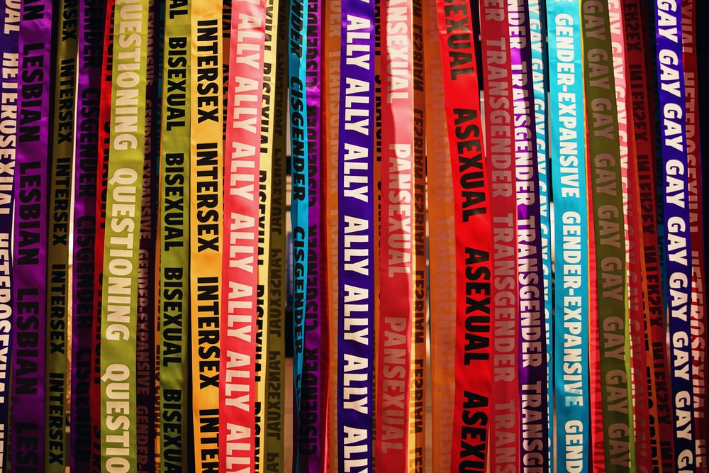 red yellow and purple books
