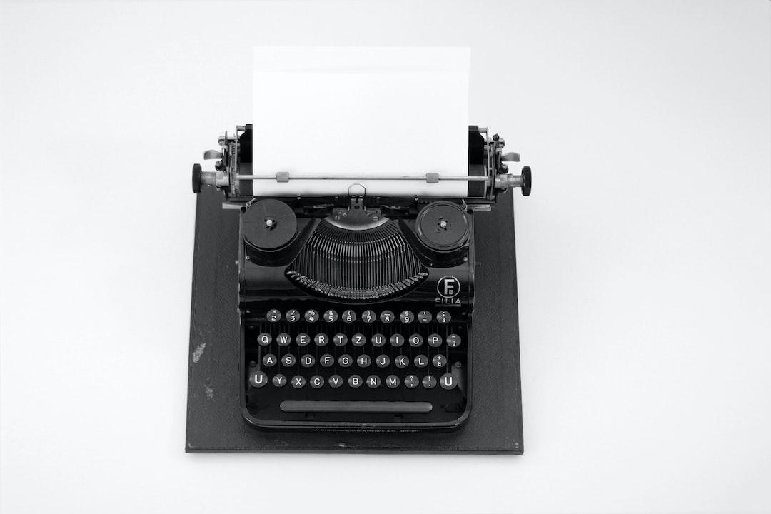 Black&White Typewriter