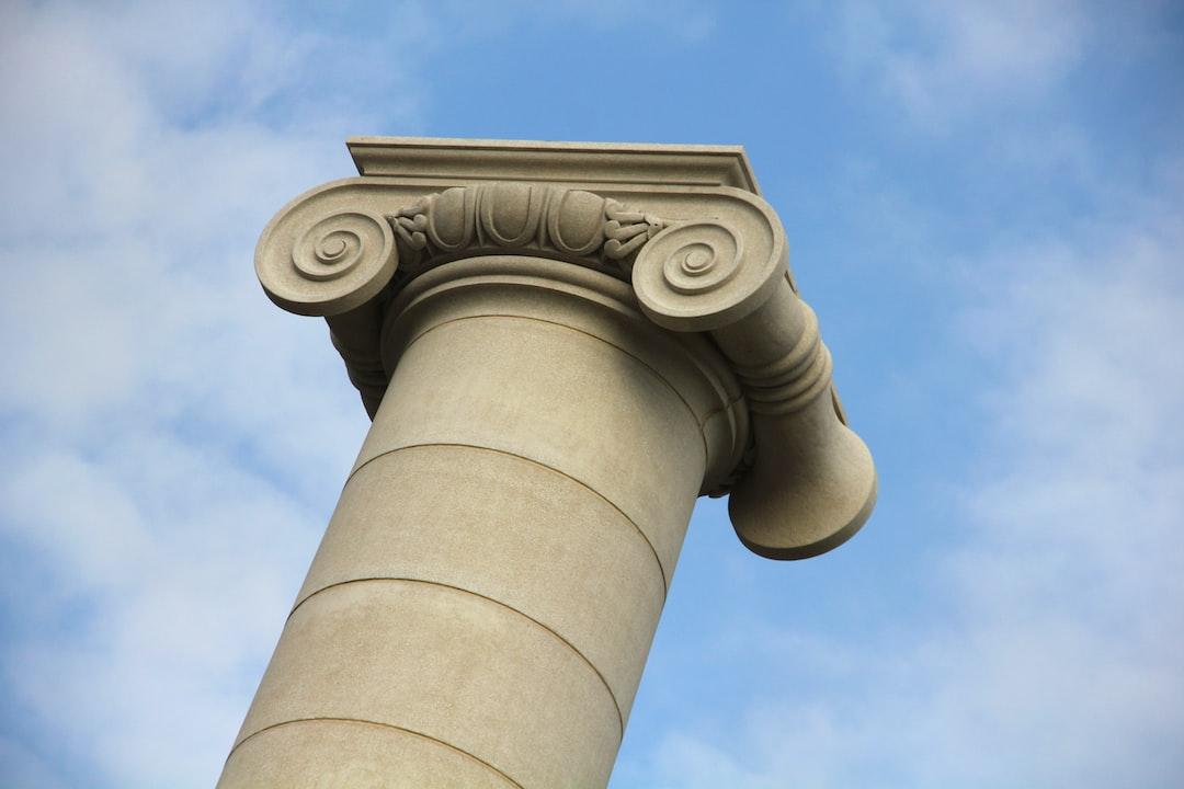 One of the four Ionic columns The Four Columns (Las Cuatro Columnas), Barcelona, Spain, 2011.