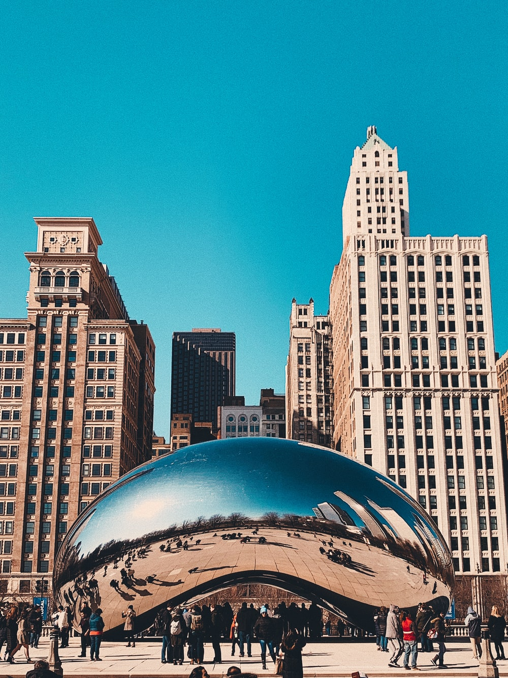 cloud gate chicago during daytime