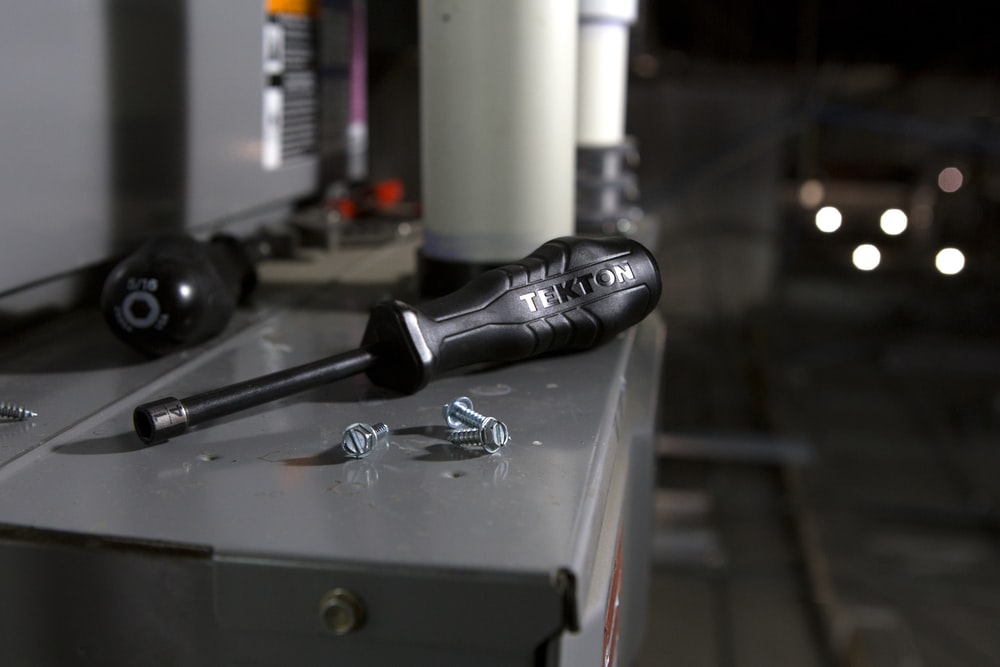black cordless microphone on table