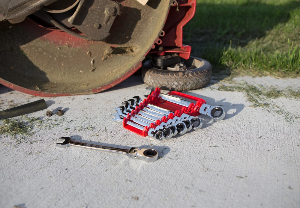 red and gray metal tool