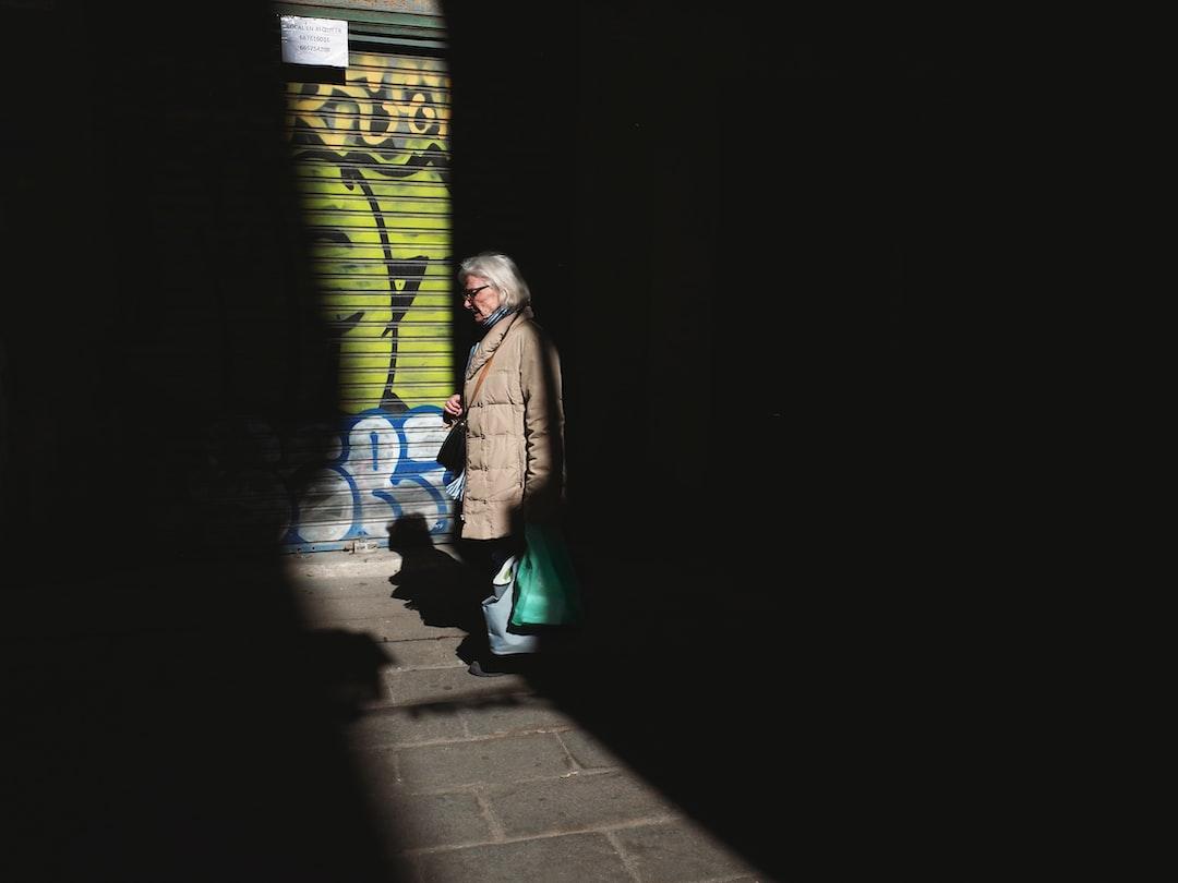 Woman walking in Barcelona