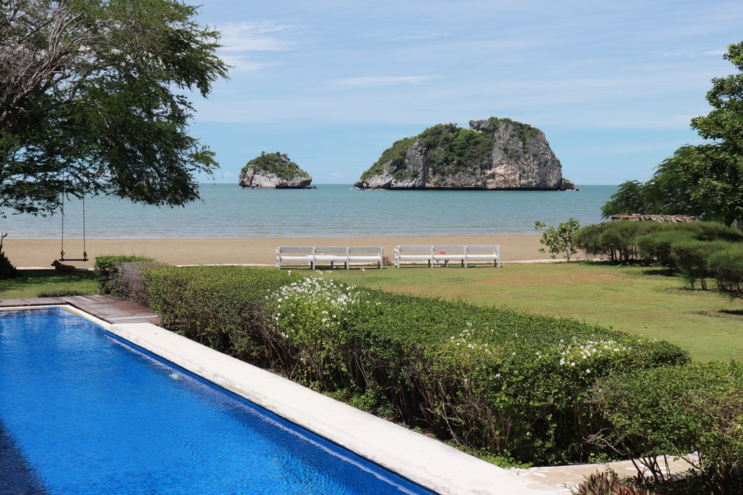 Private beach at Pranburi, THAILAND