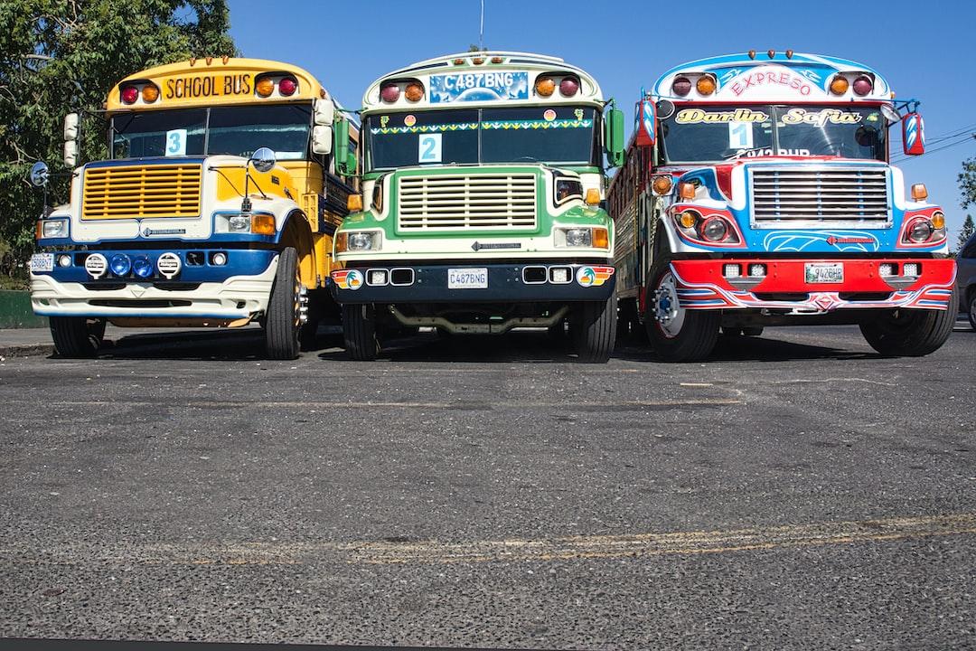 Guatemala - Colourful school buses