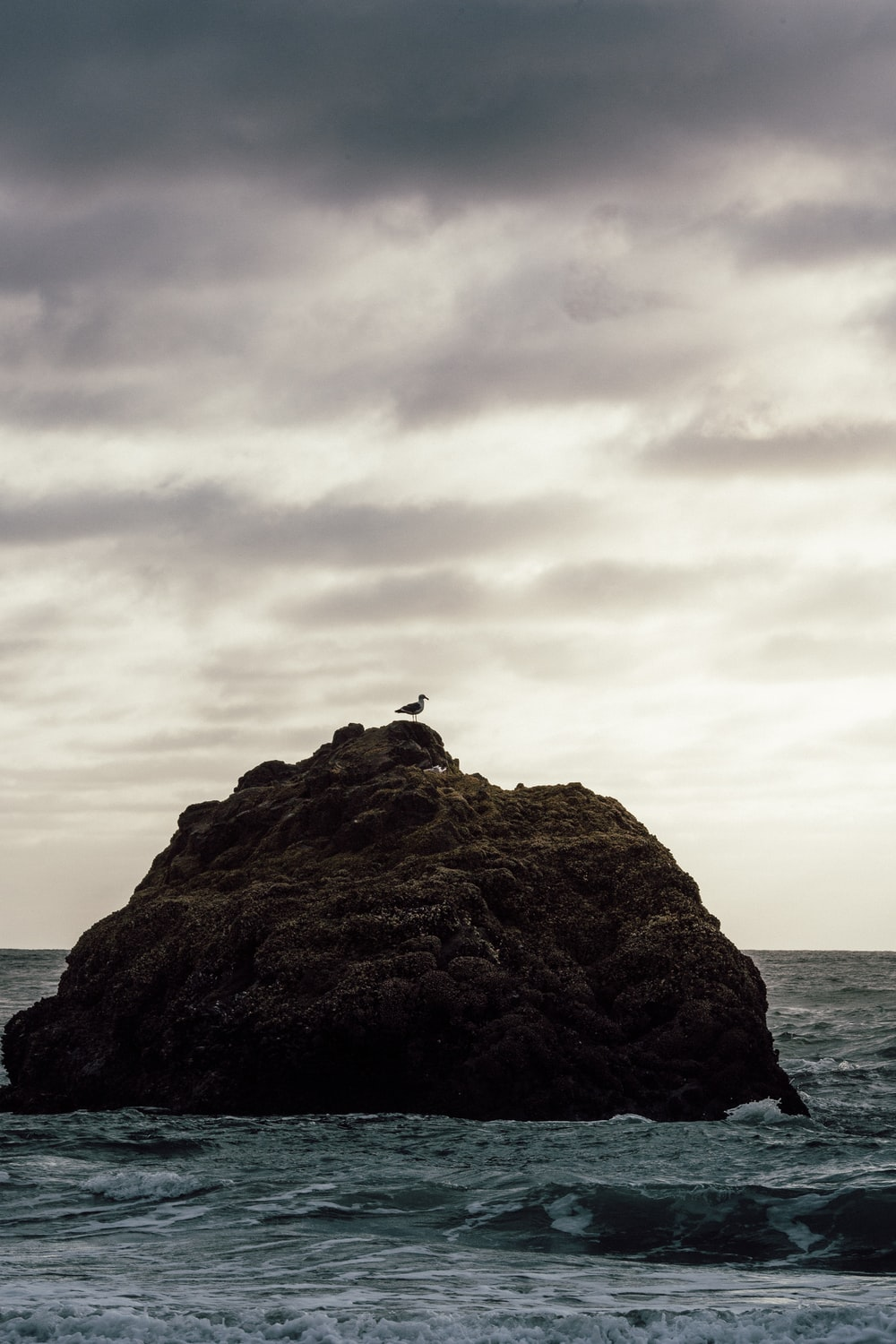 silhouette of person sitting on rock formation during daytime