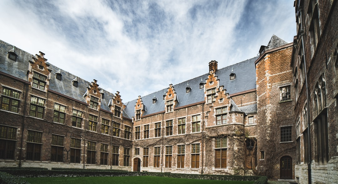 The historic University of Antwerpen with a ultra wide lens.