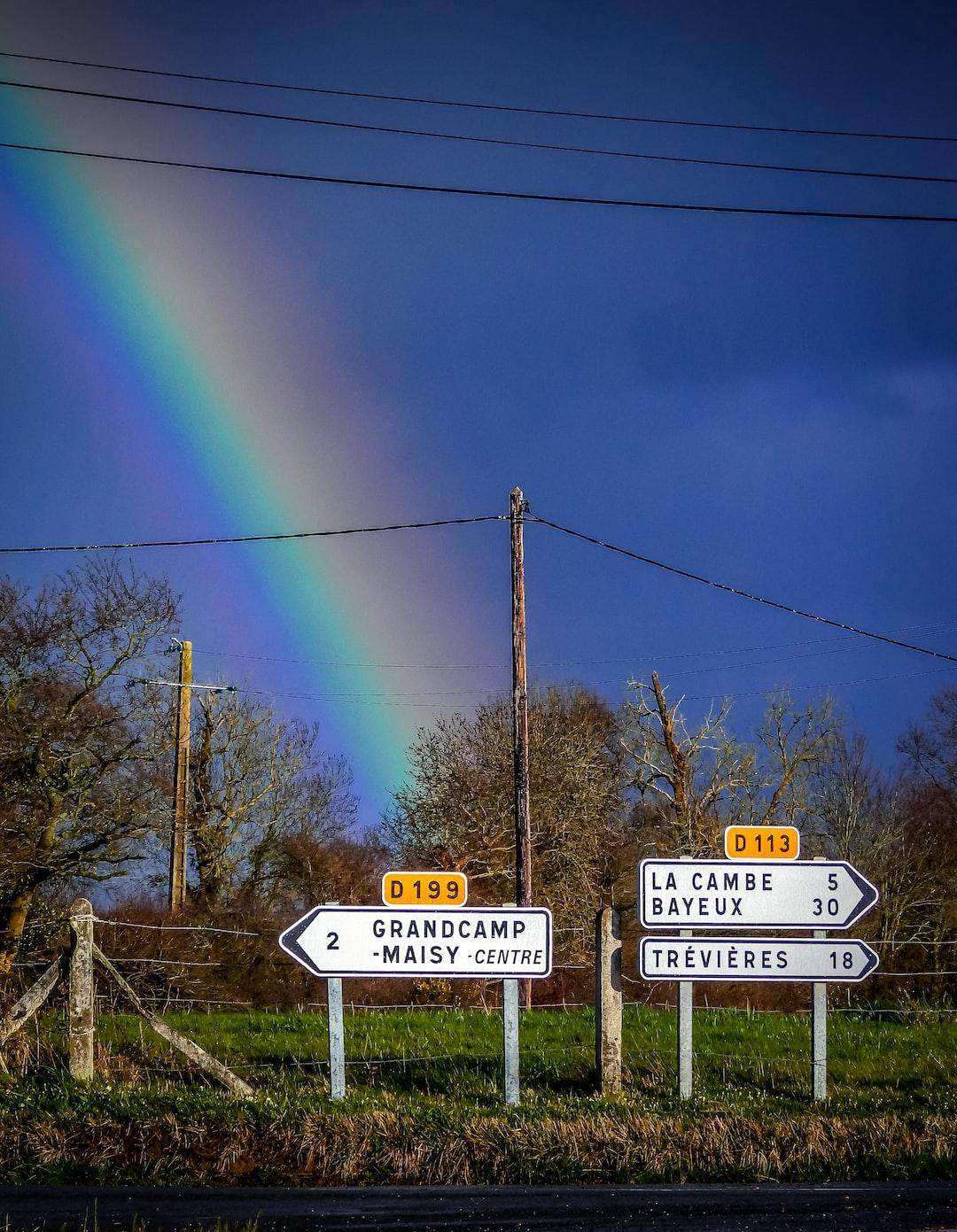 Big rainbow in Calvados in Normandy