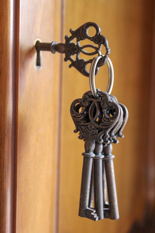 silver steel door handle bar