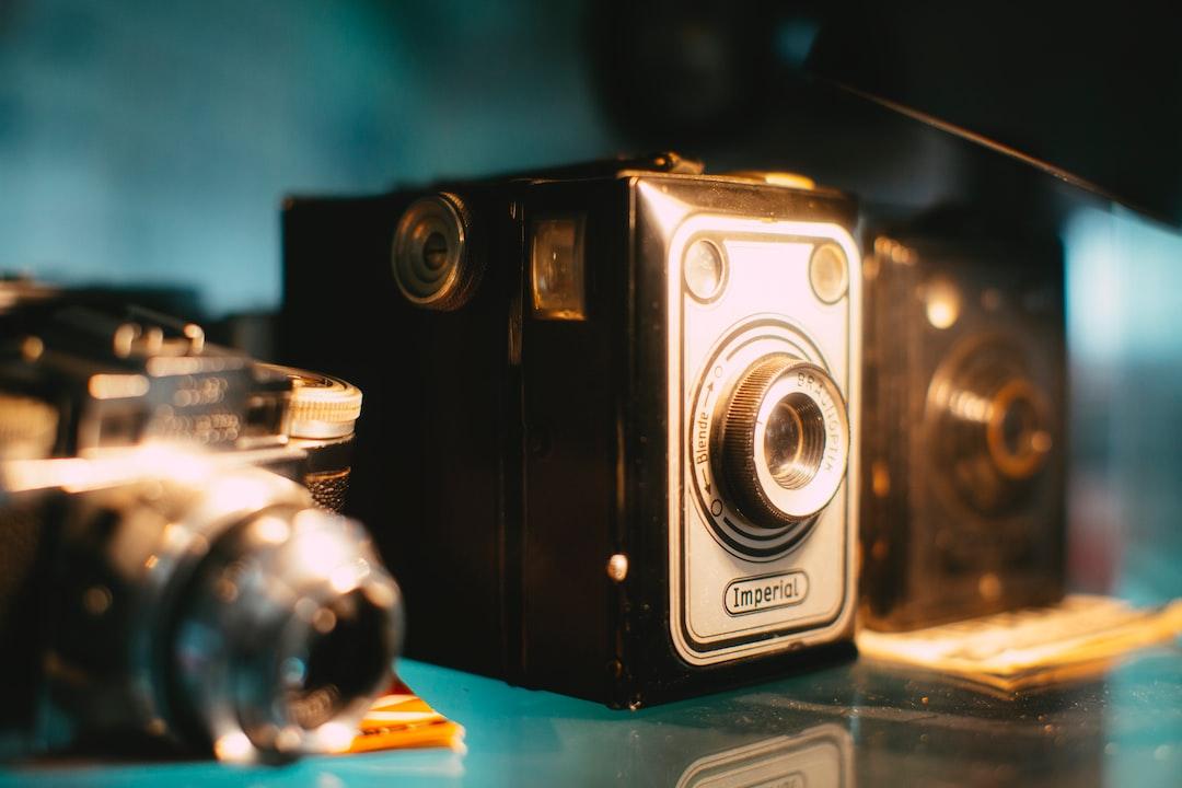 Vintage analog photo camera. Visit this utmost insane vintage museum in Nuremberg: MERKS MOTOR MUSEUM (www.merks-motor-museum.de)
