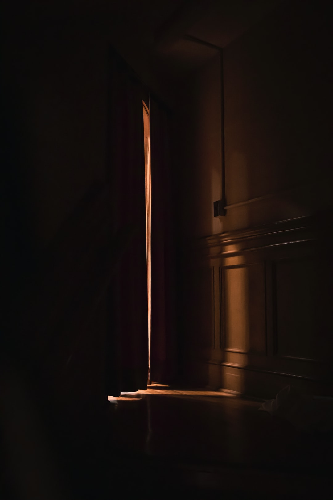 Ambient light through curtains