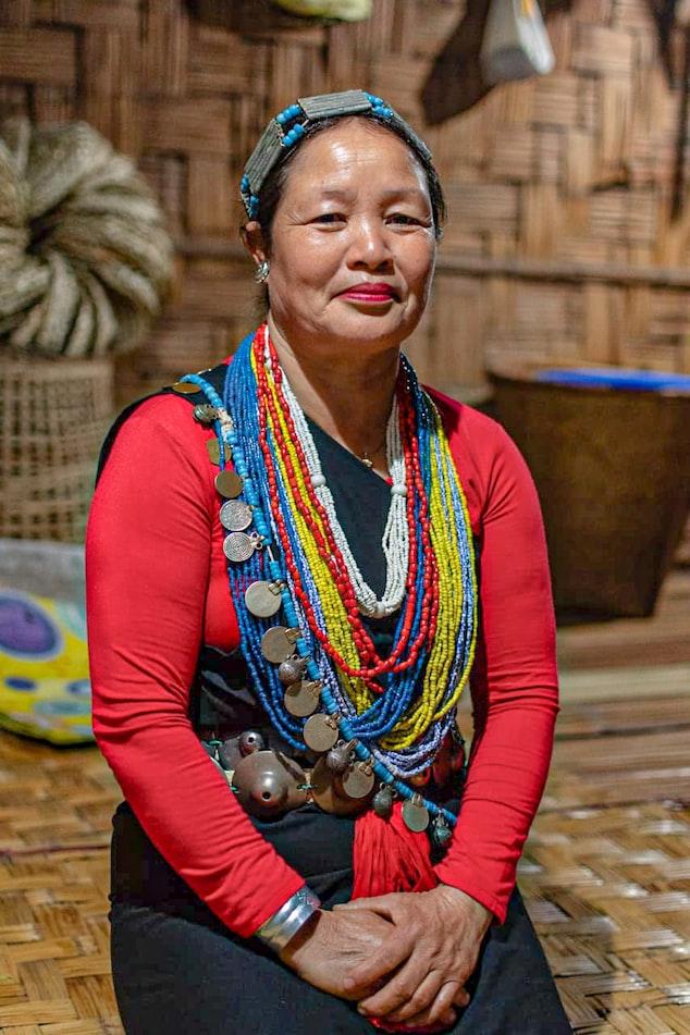 Tribal woman portraying culture of Arunachal Pradesh