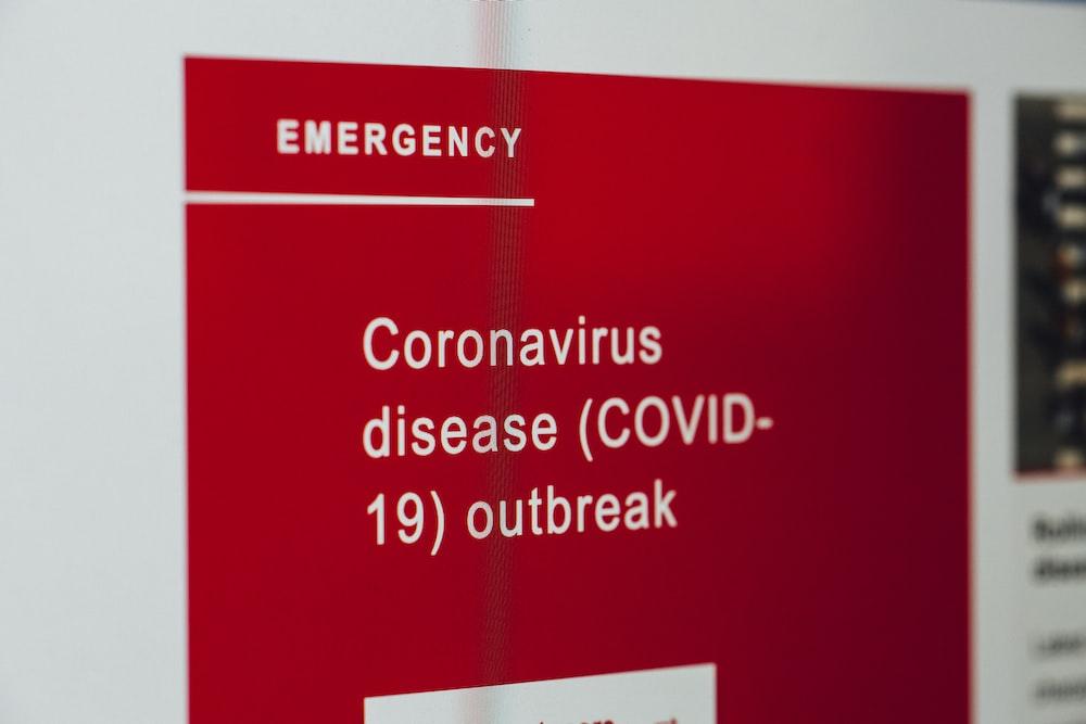 Coronavirus disease (COVID-19) outbreak – warning alarm message.