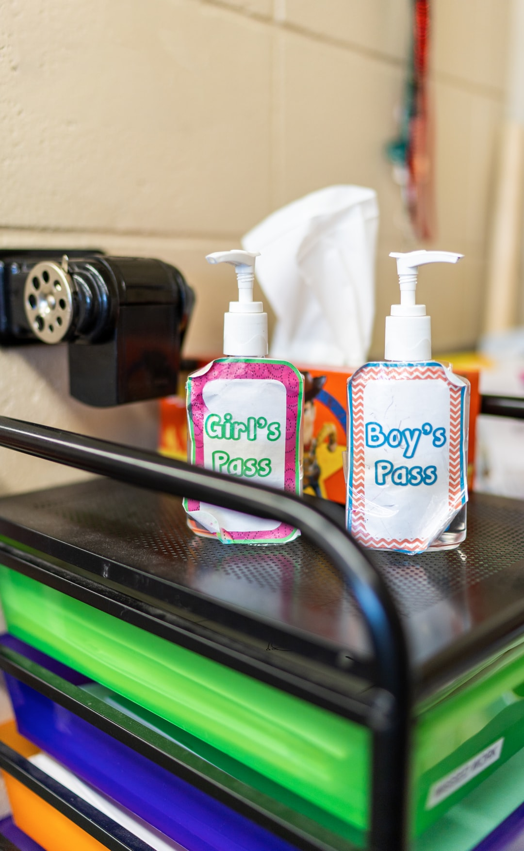 School supplies hand sanitizer