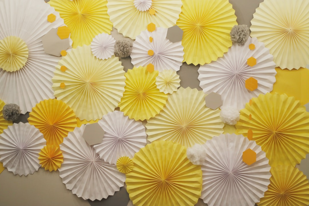 Yellow Paper Arrangement