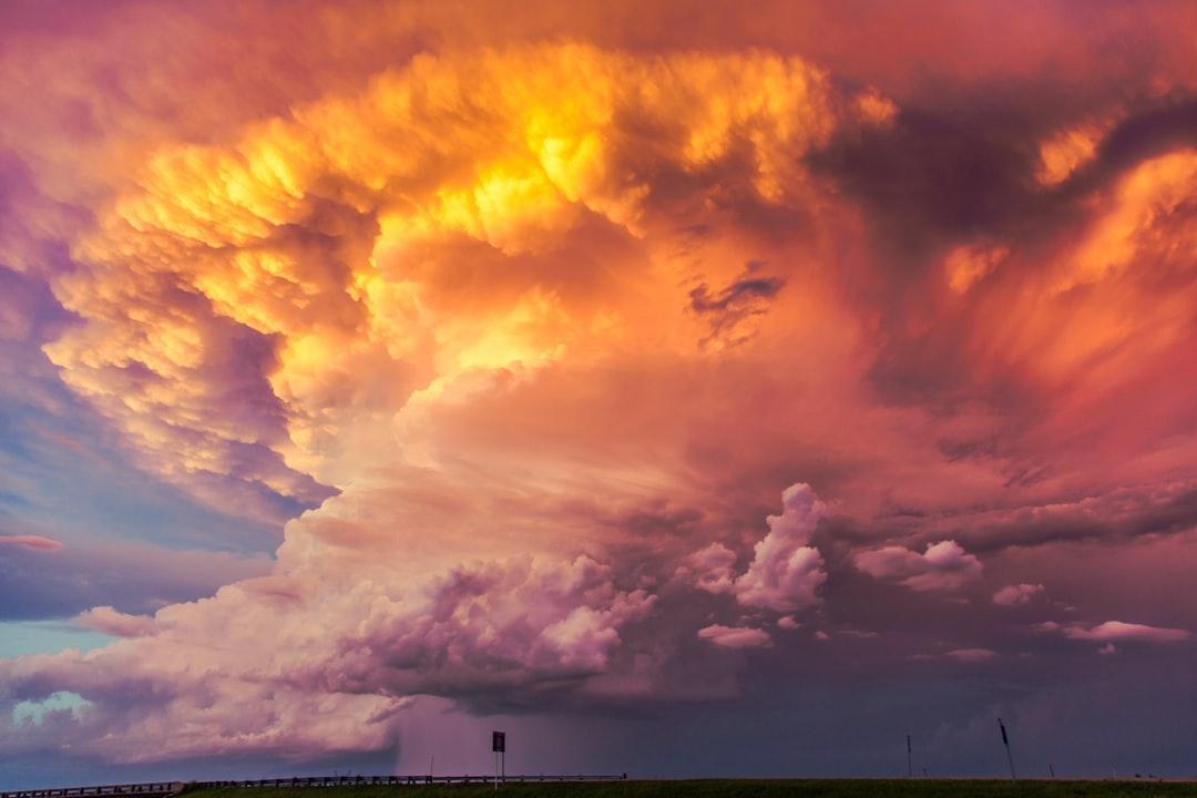 Skies ablaze on the high plains.