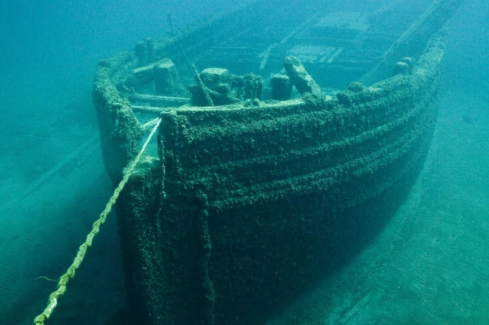 black and brown ship wheel