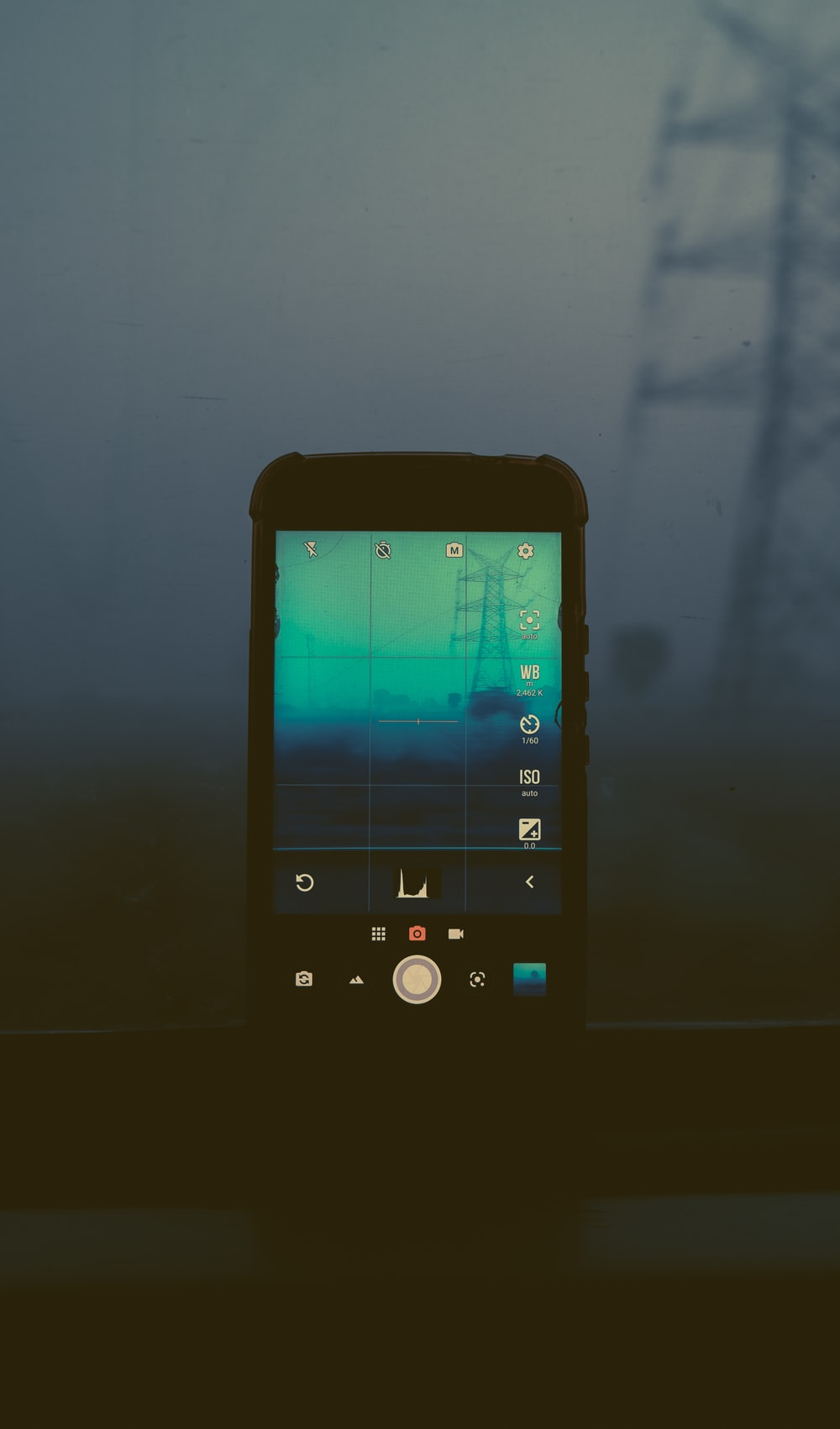 white android smartphone displaying icons