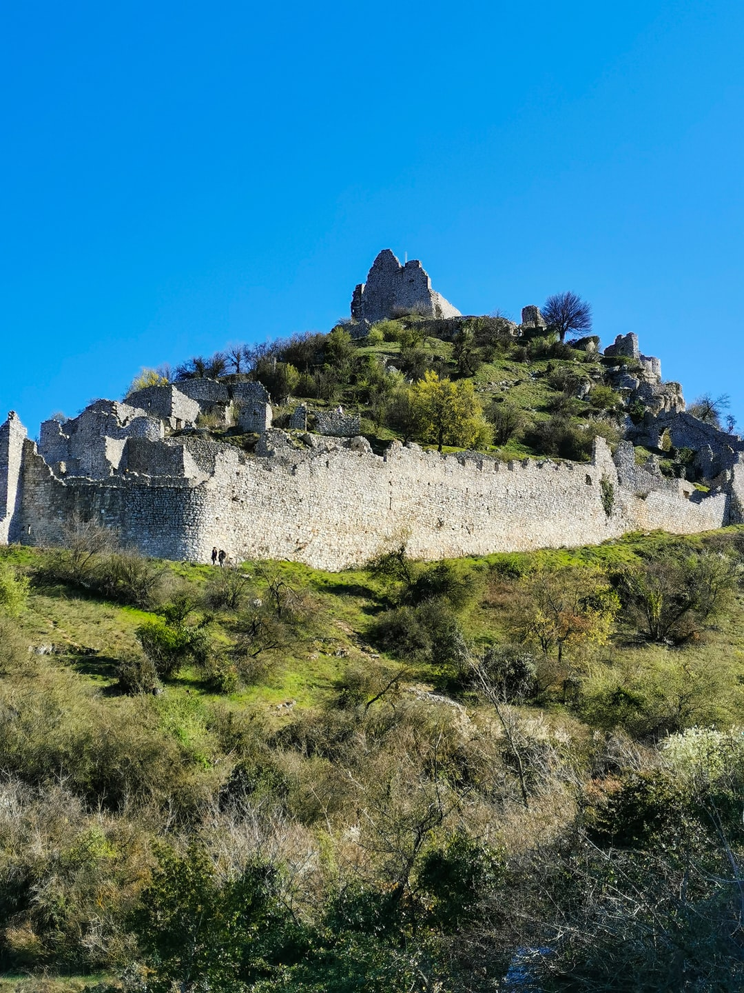 the castle at the top of the hill