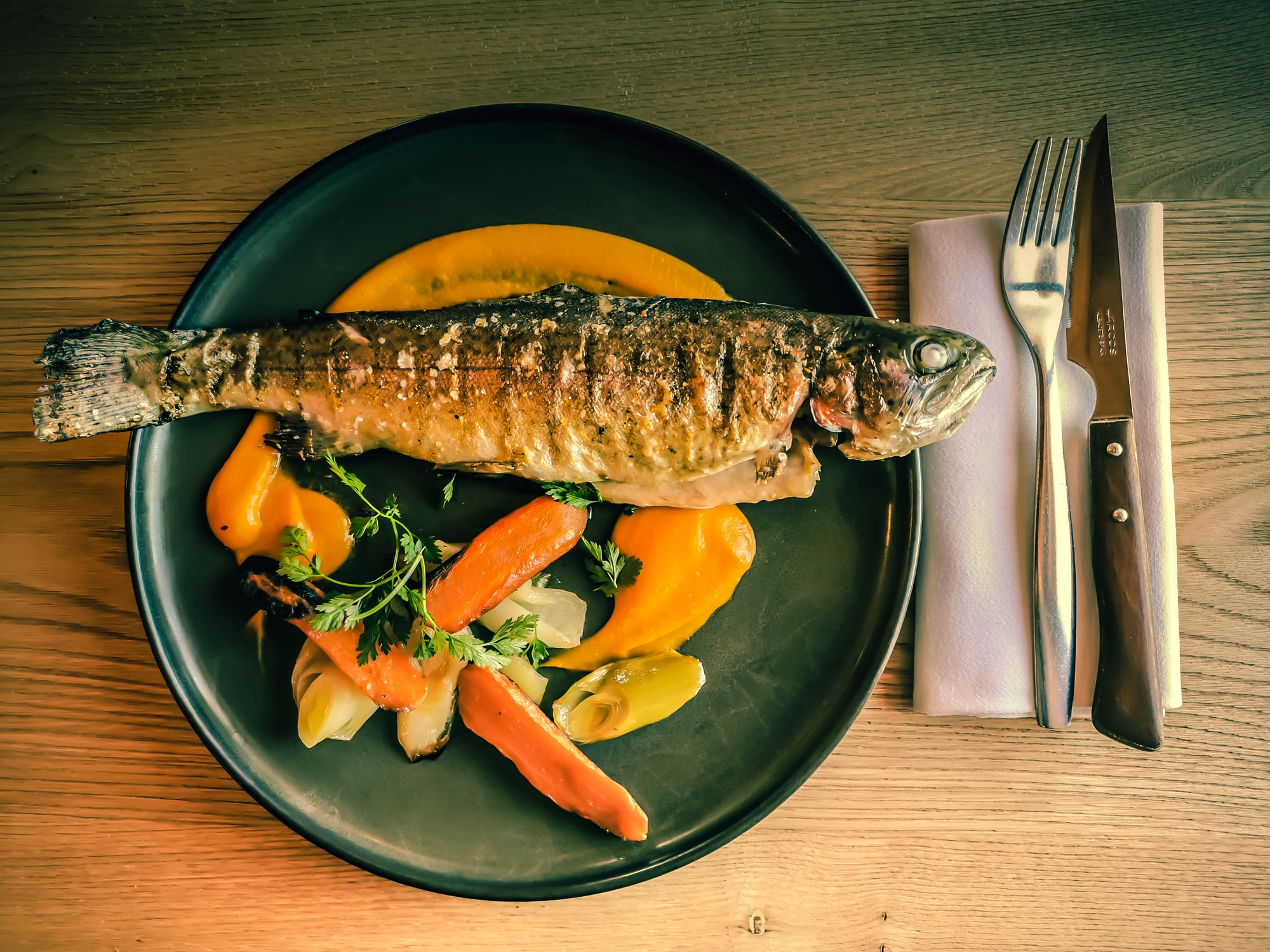 trout is served