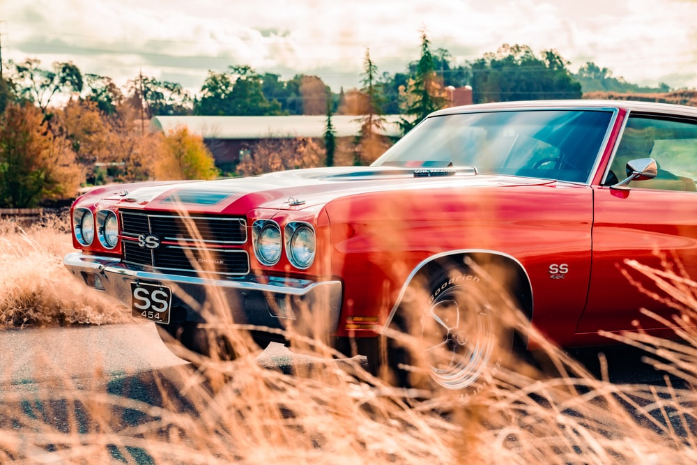 red car on brown dirt road during daytime