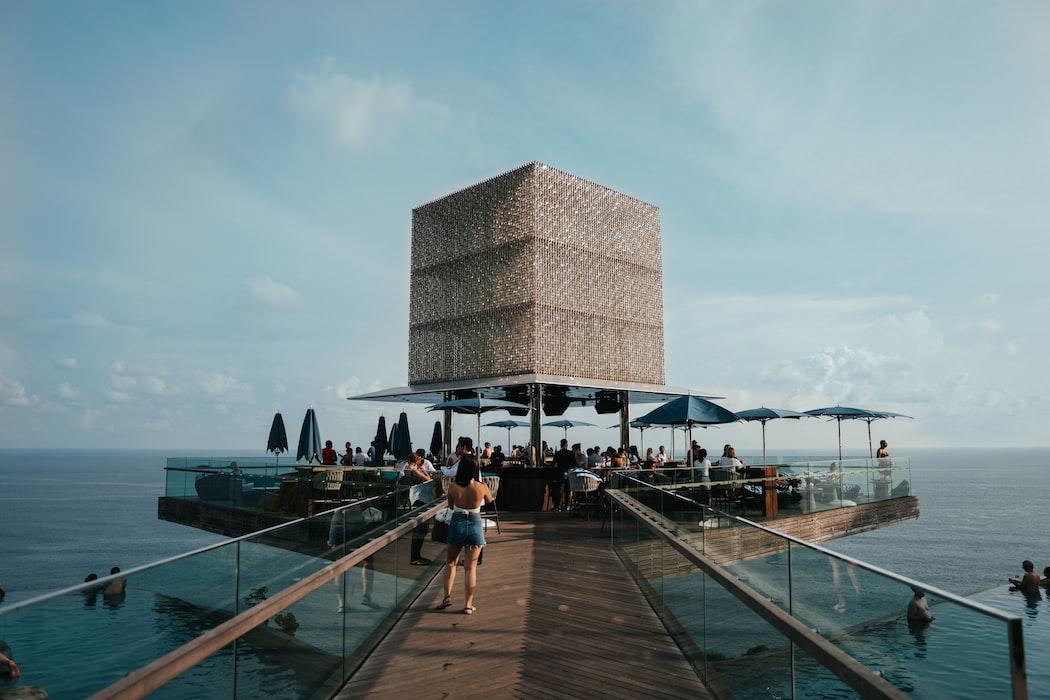The cube in OMNIA dayclub, Bali