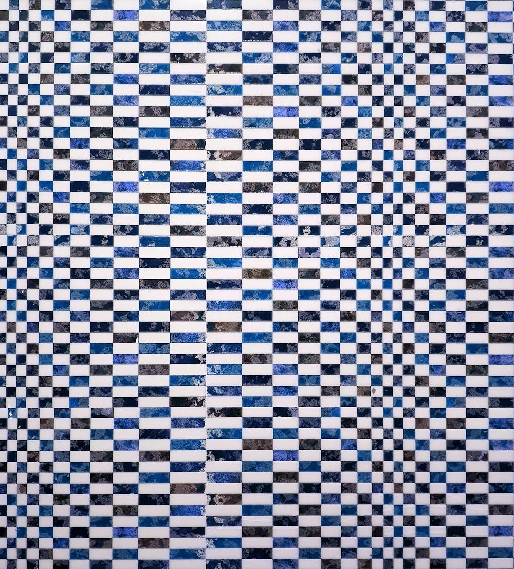 white and black checkered textile