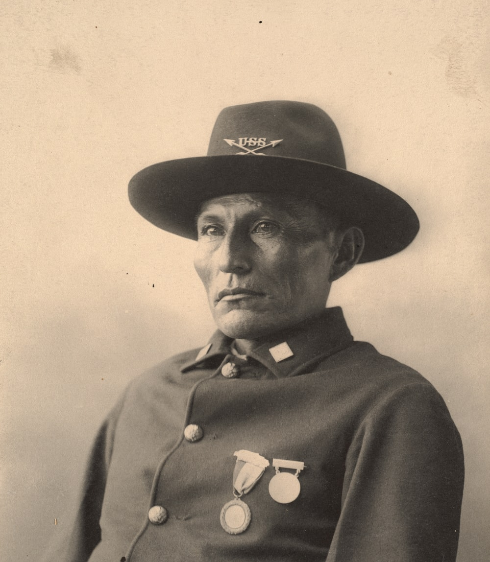 man in black hat and coat