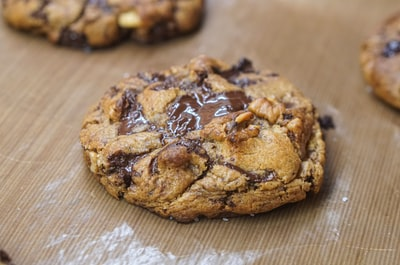 brown cookies on brown wooden table cookie zoom background
