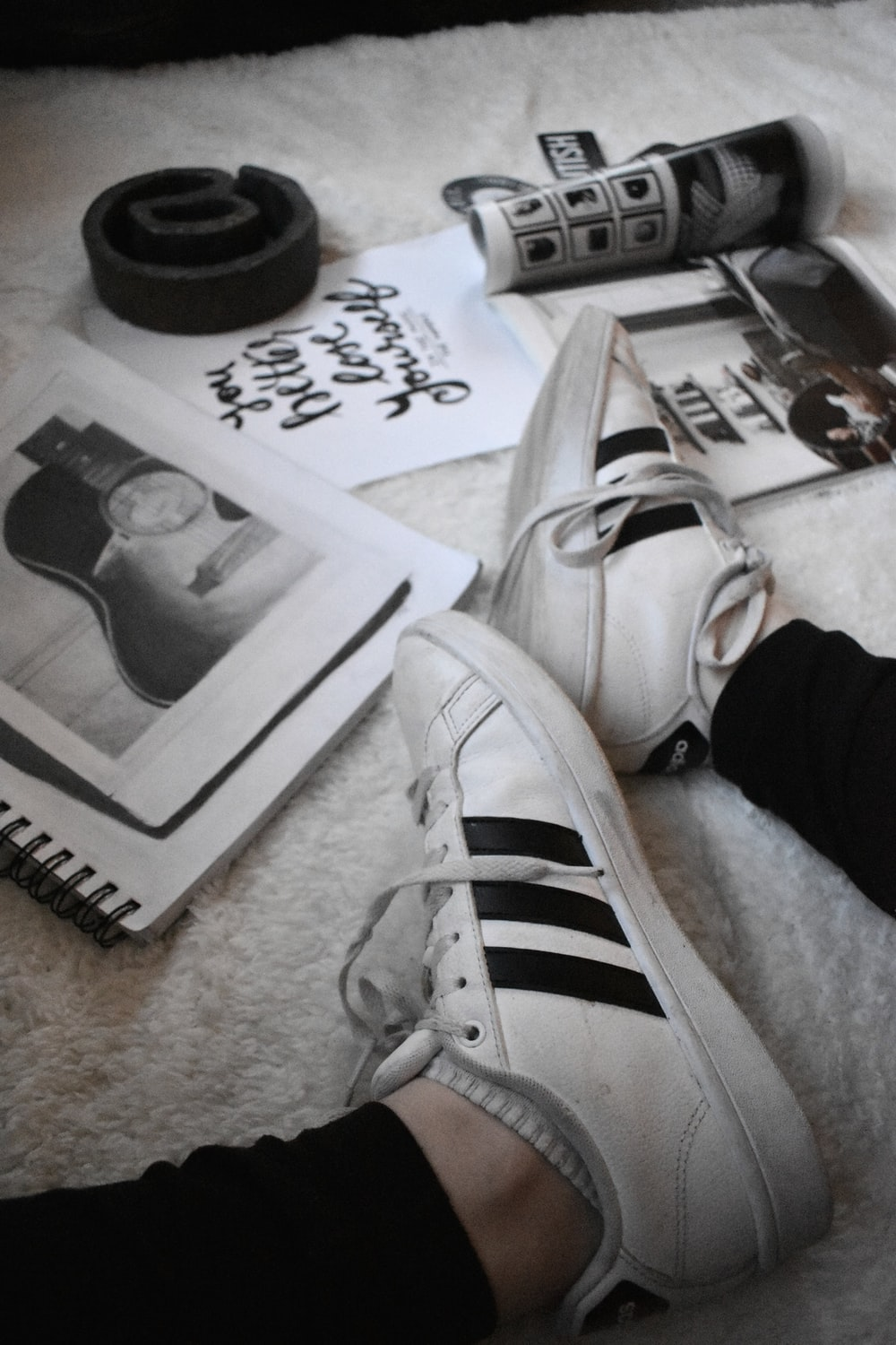 black and white adidas low top sneaker