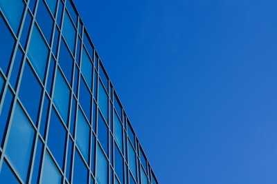 Office building and blue sky in Unterföhring near Munich, Germany