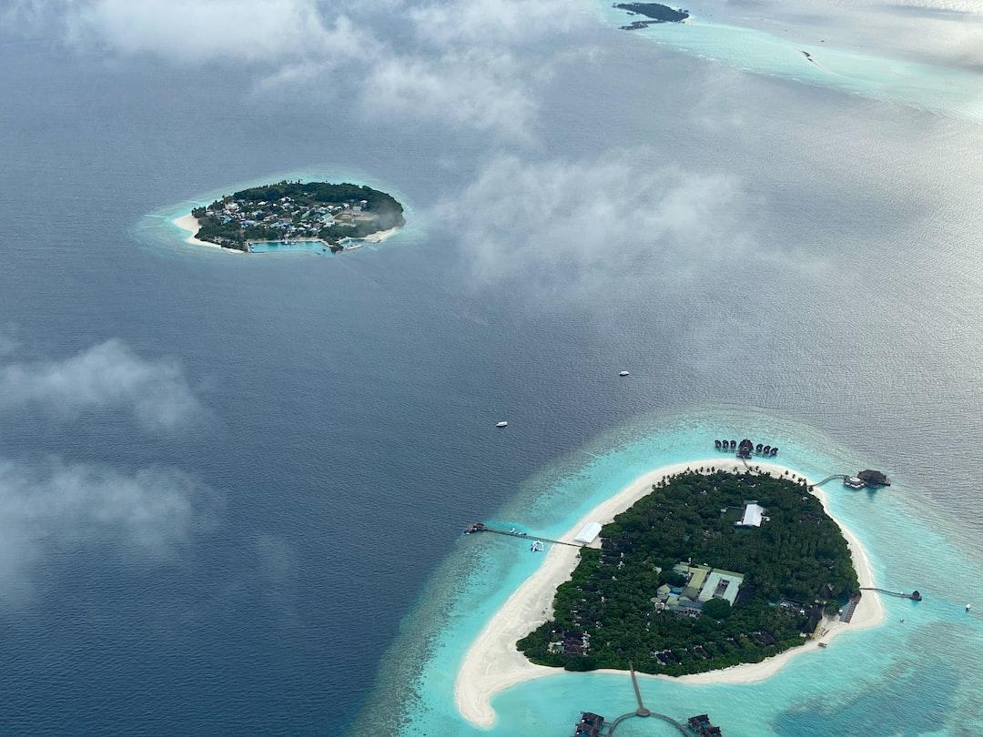 Bird's eye view of the islands