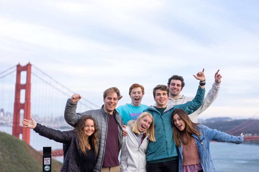 group of people posing for photo