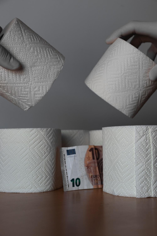 10 euro on white table