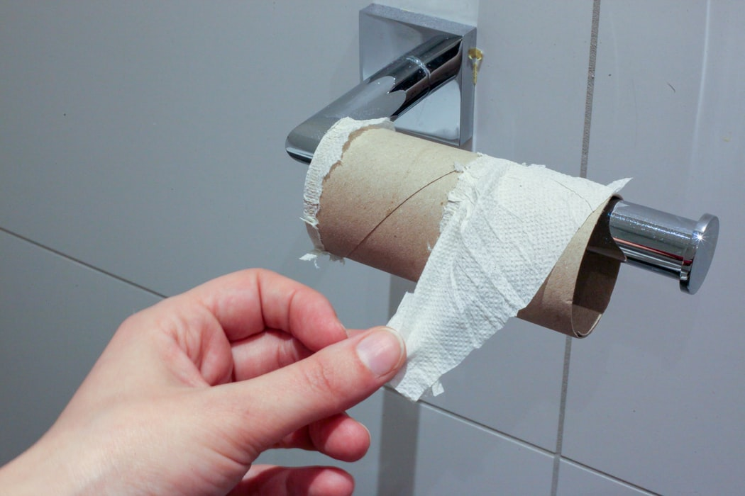 A person uses approximately fifty-seven sheets of toilet paper each day