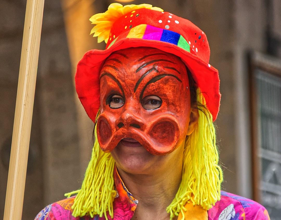 Un des masques typiques du carnaval