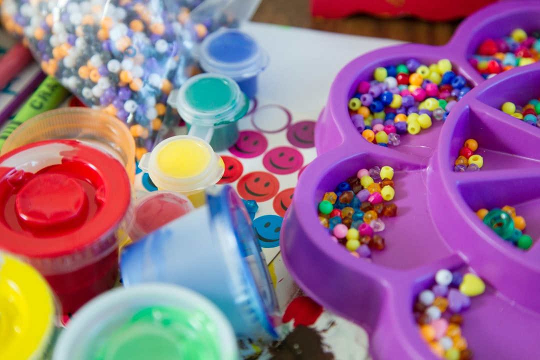 Arts and Crafts. Art and craft materials available to help young cancer patients cope with their treatment at the NIH Clinical Center.