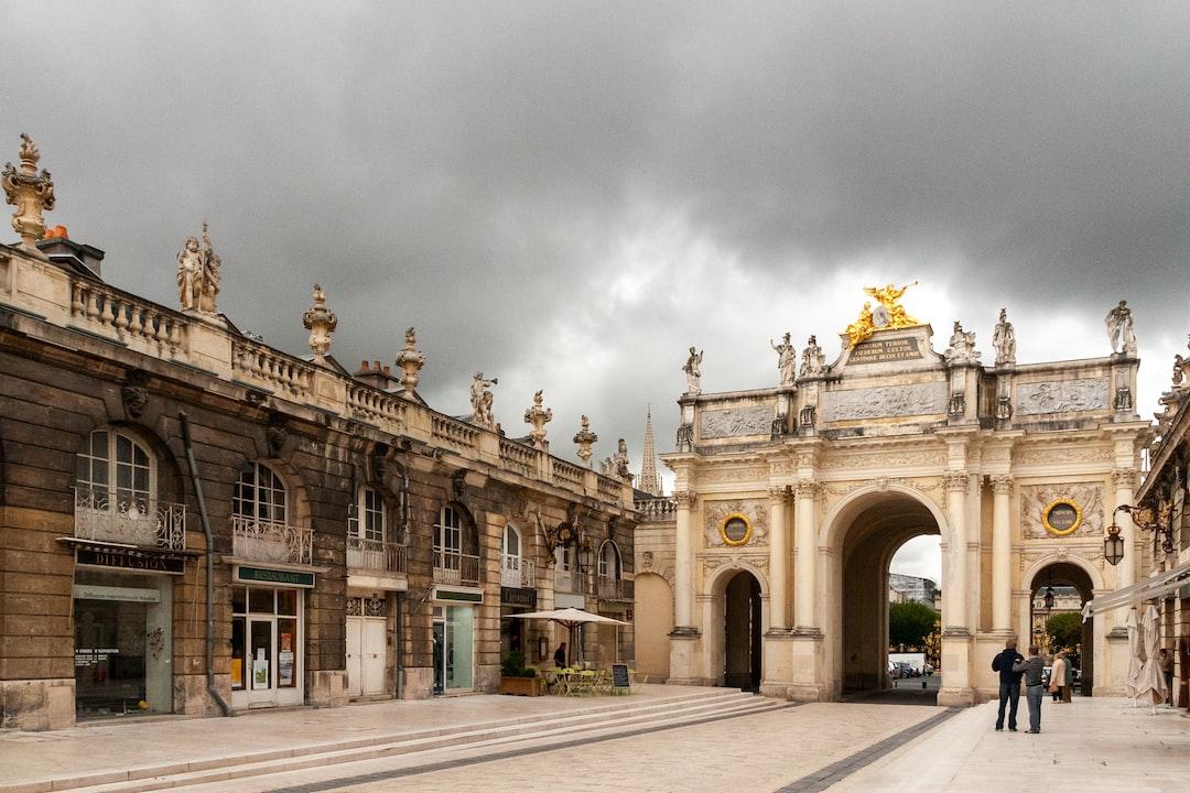 Héré's triumphal arch at Place Stanislas square in Nancy, France.