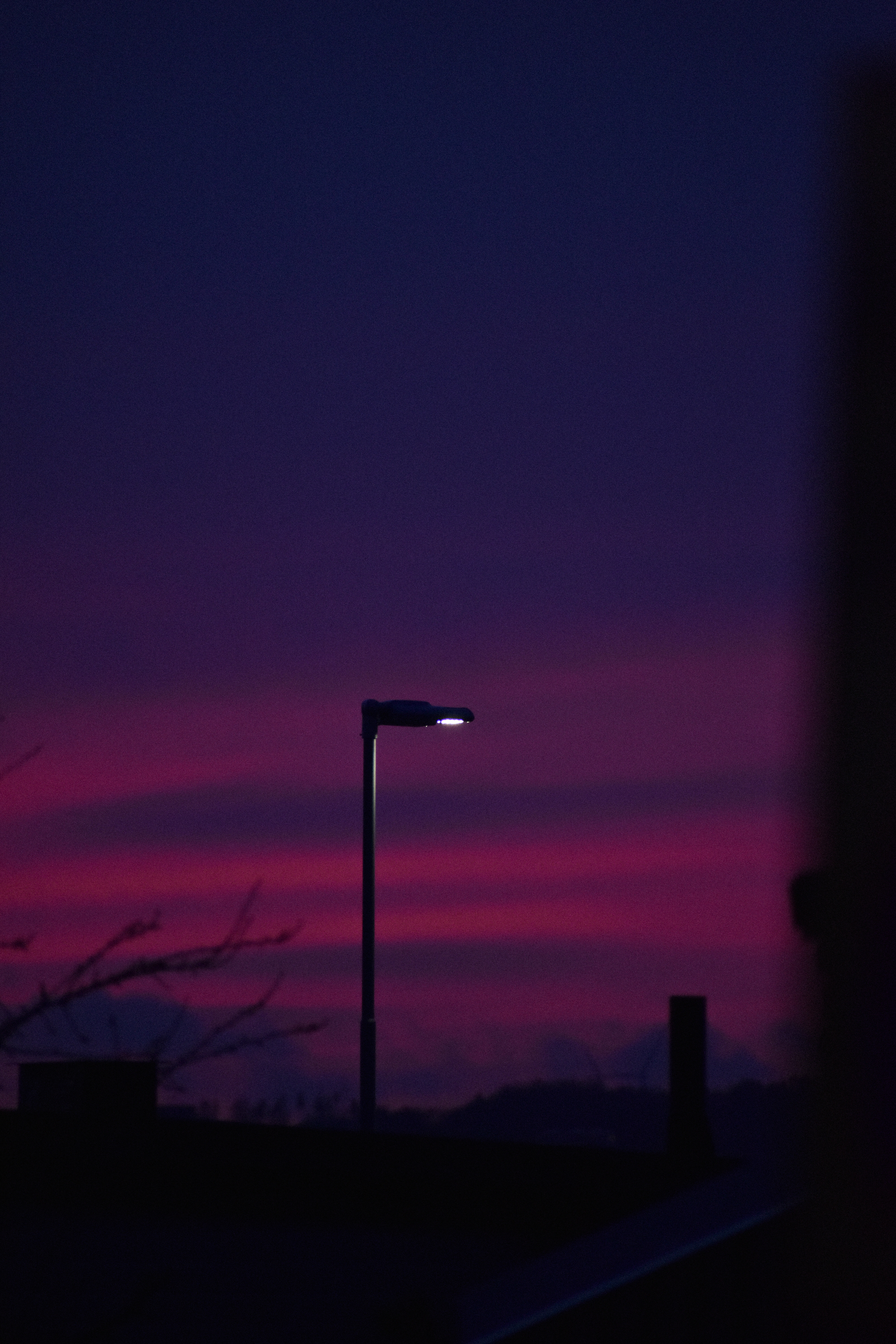 Pink and blue sunset in Sweden