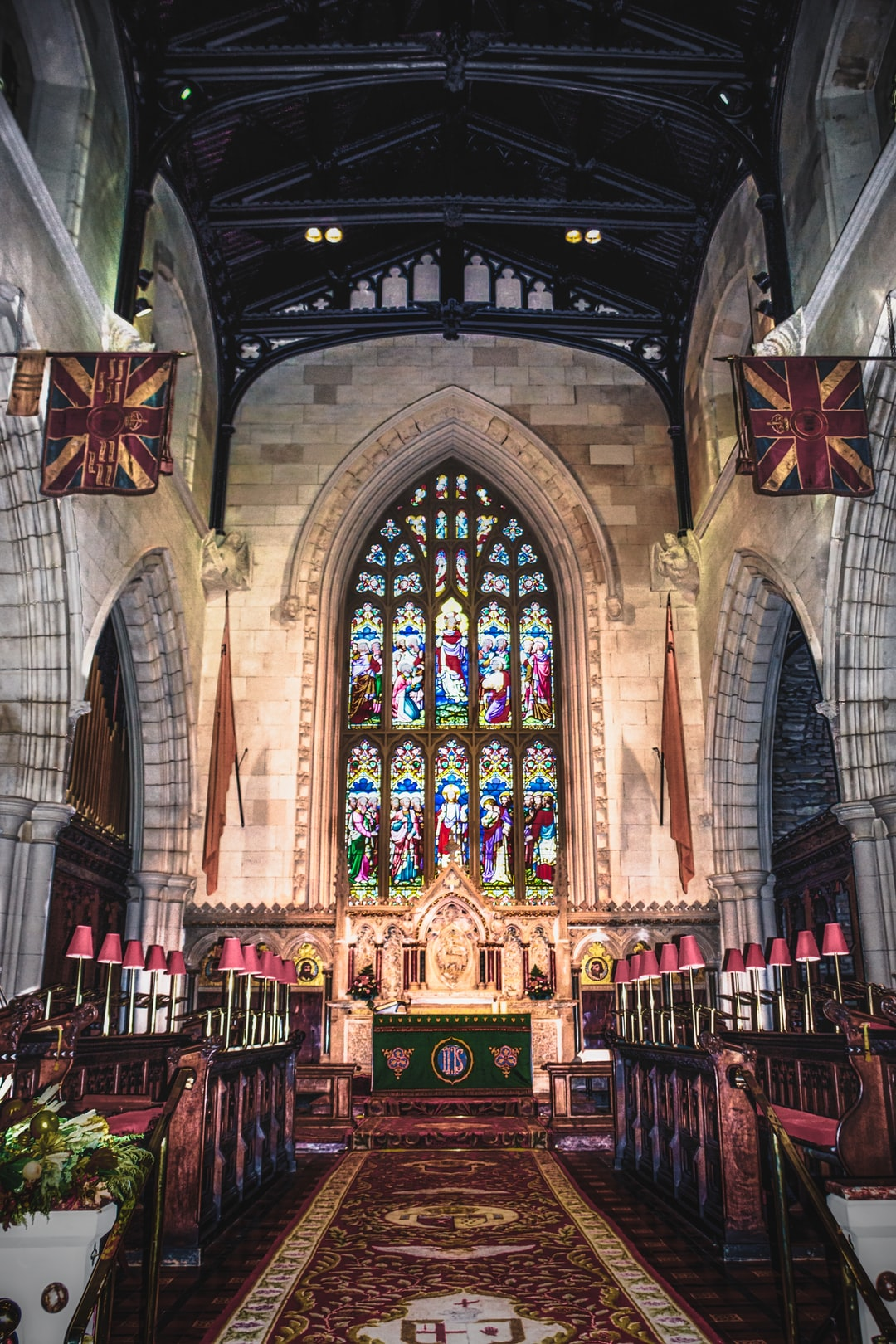 The altar at St. Columb's Cathedral in Derry. It is the first Cathedral built post-reformation.