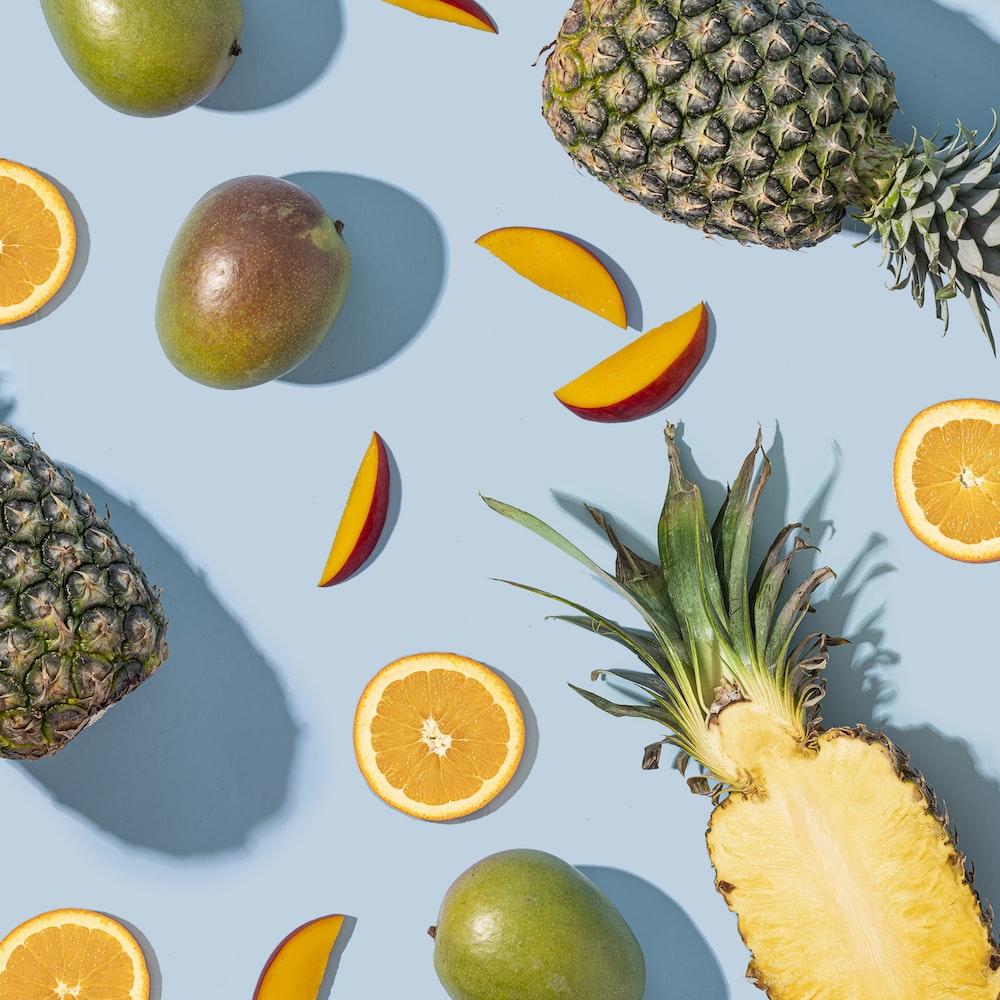 sliced lemon and orange fruits