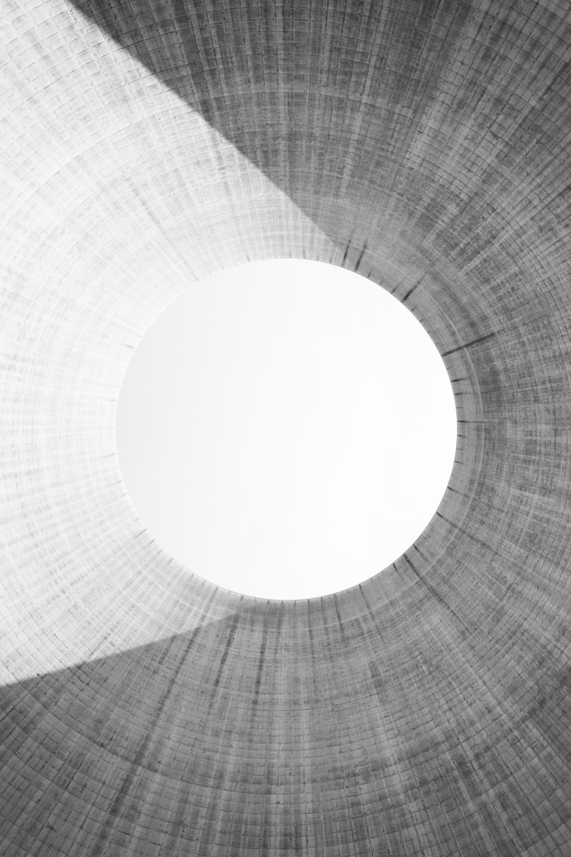 white round light on gray textile